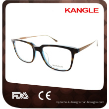 Man big size Newest design hot seller Fashion acetate with metal temple optical glasses & acetate eyeglasses eyewear