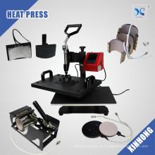 2017 máquina de pressão 8 en 1, prensa de calor combo digital