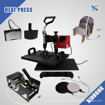 2017 8 en 1 máquina de la prensa del calor, prensa caliente del calor del combo