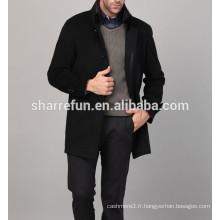 Laine Cashmere 2016 nouveau style pardessus pour les hommes d'hiver
