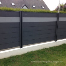 China exterior composite  wpc boards fencing easy install privacy