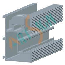 PV Solarmodul Halterung Aluminium Montageschienen