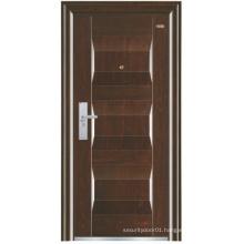 Deep Embossing Panel Steel Security Door