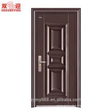 Design de porta única de aço inoxidável Painel de pele de porta galvanizada porta anti-roubo