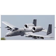 Avión eléctrico modelo RC gris espuma A10