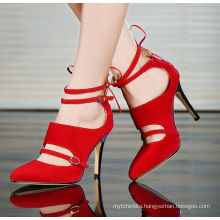 2017 elegant womensshoes with red high heel shoes women sandals