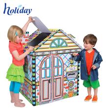 Most Popular Creative children train cardboard playhouse