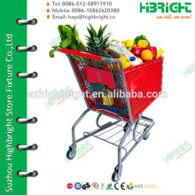 plastic trolley for supermarkets