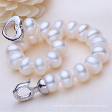 Freshwater Pearl Bracelet, 9-10mm Natural Button Round Shape