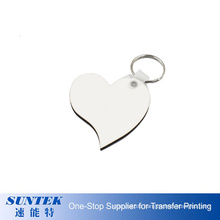 Sublimation MDF Heart Shape Two Sided Sublimation Keychain for Heat Press Transfer
