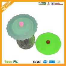 Aprobado por la FDA Grado Alimenticio Taza de café Taza de té de porcelana con tapa de silicona / Copa de cerámica Tapas / Taza Tapa de silicona