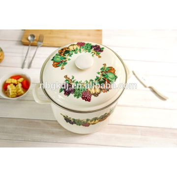 hot selling special design Chinese style enamel stock pot