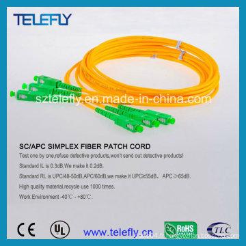 Câble de cordon de correction Sc / APC