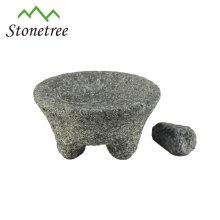 Mörser und Pistill mit natürlichem Granit
