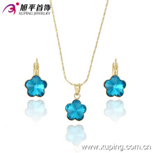Xuping Fashion High Quality Graceful Crystal Jewelry Set para el mejor regalo de las mujeres 63175