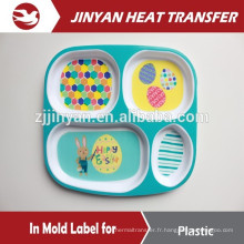 desgin for free injection in mold label for plastic