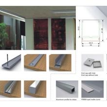 Canal de profil en aluminium 35X42mm avec couvercle pour lampe à rayons LED