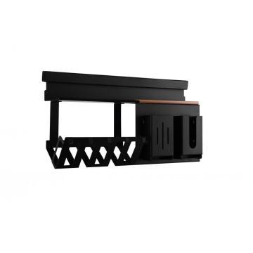 Black Kitchen Dish Rack with Hook