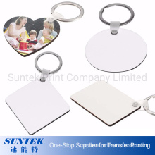 Double Sides Printable Sublimation MDF Blank Key Chain