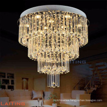 Big crystal chandelier round design plastic covers lamp ceiling light 92043