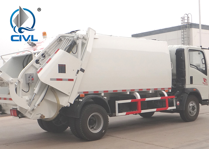 8m3 Compact Garbage Truck With Light Chassis 9