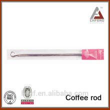 Barra de café de diseño superior, gancho flexible en forma de barra de cortina de ducha, barra telescópica de café de primavera