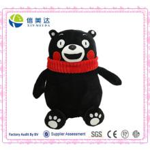 Urso Preto Logy Kumamon Plush Toy