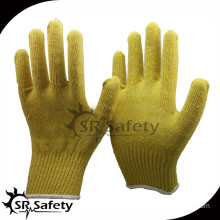 SRSafety 7G Safety seamless knitted aramid fibre glove,safety equipment rubber gloves
