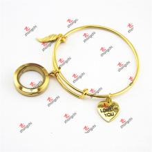 Ouro encantos pingentes bracelete de bronze pulseiras jóias (ode60229)