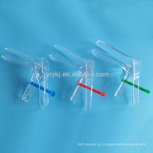 Espéculo vaginal medicinal descartável com tipo de fixador para teste ginecológico