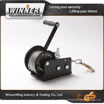 Trad protección de 600lbs de remolque de coche cable de acero de la mano de la fuente de cabrestante