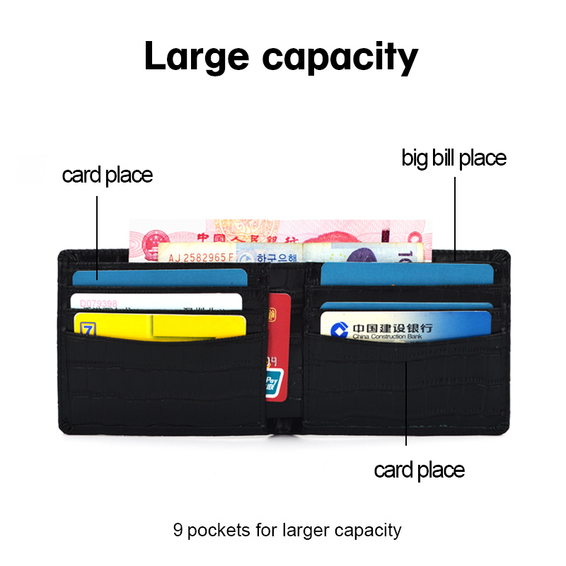 New Fashion Short Design Male Purse Pocket Wallet
