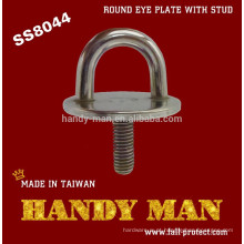 SS8044 Aço Inoxidável 304 Round Eye Plate Com Stud