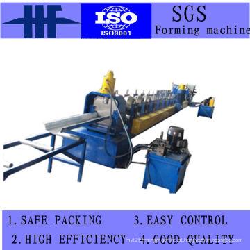 Máquina formadora de rolos de placa de calha