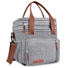 Amazon Hot Sales High Quality Cross-border Shoulder Bag Portable Oxford Double-Layer Picnic Lunch insulated Outdoor Cooler Bag