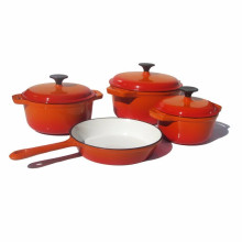 Amazon Cast Iron Enamel Cookware Set for 4 Pieces