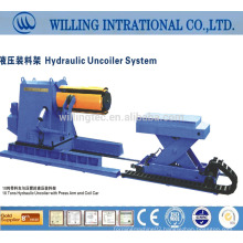 2014 hot sale and good quality hydraulic steel plate cut to length cutting machine uncoiler