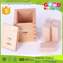 Frobel Gabe 4 Second Block Series Vorschule hölzernes pädagogisches Spielzeug für Kind