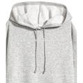 As mulheres cinzentas planas desproporcionados feitas sob encomenda deixam cair hoodies do longline do pulôver do ombro