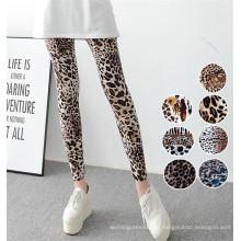 Печать гетры высокое качество эластичные женские Леопард (78032)