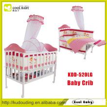 China fabricante Novo design rosa bebê berço portátil definido