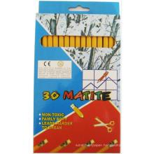 drawing HB yellow barral natural wood pencils set