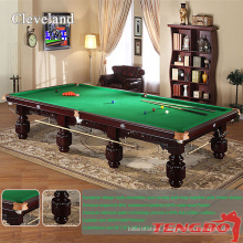 TBUK041 European streamline Cleveland carving 12ft cheap snooker table for sale