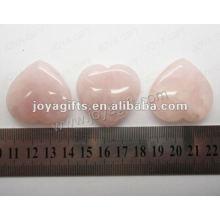 35MM Сердце формы Роза Кварц, высокий полированный, высокое качество, природный камень формы сердца