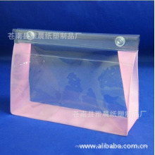 Lavagem impermeável reutilizável transparente senhoras limpar produtos de higiene pessoal cosméticos alça pvc