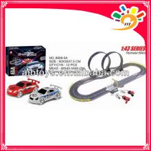 Rennstrecke lange Spur Spielzeugauto mit Hand-Generator elektrische Spielzeug Rennstrecke
