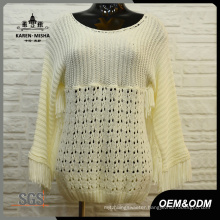 Women Loose White Knit Clothes