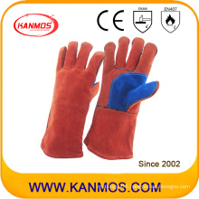 Red Cow Split Leather Welding Industrial Safety Work Gloves (11106)