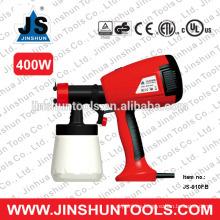 JS Electric Paint Sprayer HVLP Pintura Stain 3 Patrón pistola de pulverización, 400W JS-910FB
