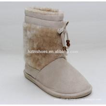 Carregadores baratos da neve das mulheres carregam as botas da neve do tornozelo da senhora do cabelo